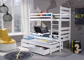 Łóżko piętrowe 3-osobowe TOBI 90x200 + materace