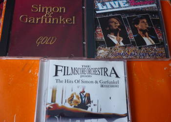 3 płyty CD Simon & Garfunkel: Gold, Live i Hits by Filmscore