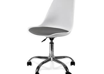 Krzesło obrotowe białe - fotel biurowy