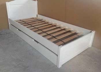 lozko dzieciece 80x180 biale z szuflada drewniane