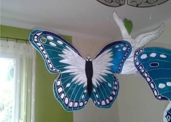 Duże niebieskie motyle dekoracyjne