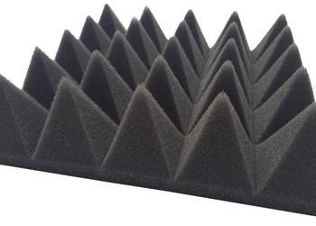 wygłuszenia wyciszenia maty akustyczne piramidki 25x25x7cm