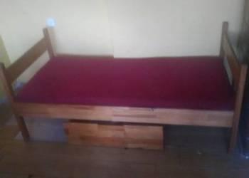 Łóżko jedno osobowe z dwiema szufladami