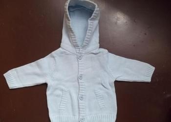 Sweterek niemowlęcy błękitny - dwa sweterki dla bliźniaków