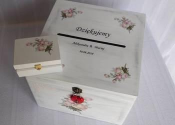 puełko skrzynka na koperty- decoupage