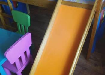Łóżko ze zjeżdżalnią+stoliczek3krzesla