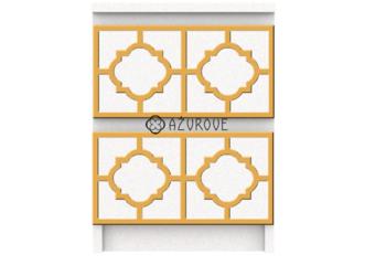 Panel ażurowy lustrzany / panel dekoracyjny / do IKEA MALM