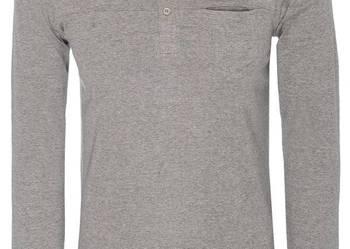 Szary t-shirt męski z długim rękawem Troll