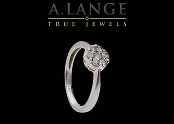 Pierścionek z brylantami 0,42 ct białe złoto pr.585 PRESTIGE