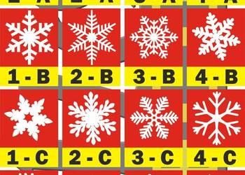 Styropianowe płatki śniegu 24 cm, ozdoby swiąteczne