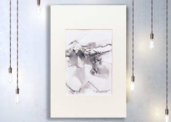 szkic do pokoju,minimalizm obraz,pejzaż górski rysunek tusz