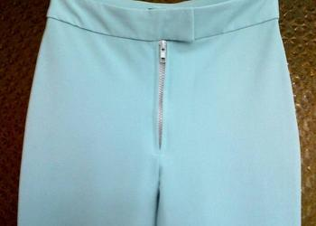 Spodnie damskie jak nowe S 36 miętowe mięta modne!!!!