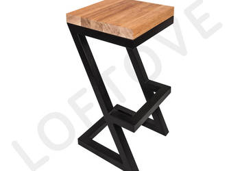 Krzesło barowe HOKER Z - loft - industrial - nowoczesne