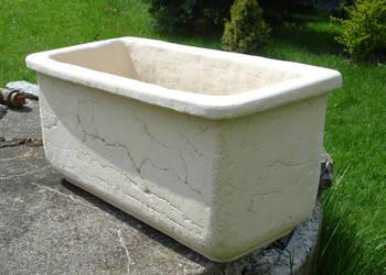 Ceramiczna donica mrozoodporna. 40 x 20 x 20 cm.