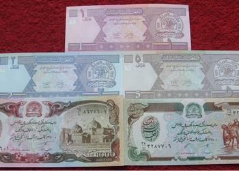 AFGANISTAN Kolekcjonerskie Banknoty Zestaw - 5 sztuk UNC