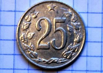 25 HALERZY 1962 ROK - CZECHOSŁOWACJA