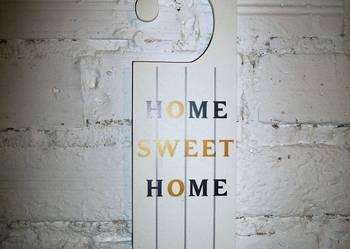 Home sweet home drewniana zawieszka dekoracyjna