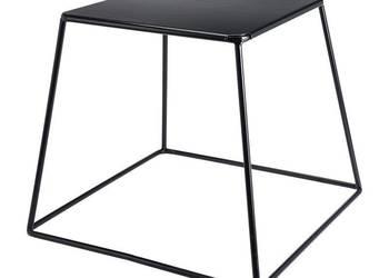 Designerski stolik kawowy czarny - kwadrat