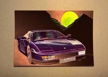 """Pocztówka laserowa / obrazek """"Ferrari Testa Rossa"""""""