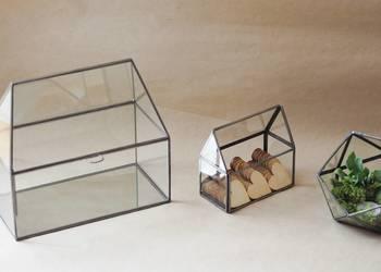 Zestaw szklany na wpisy gości/ koperty i kartki +lampion