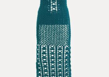 Dluga suknia na szydełku, handmade