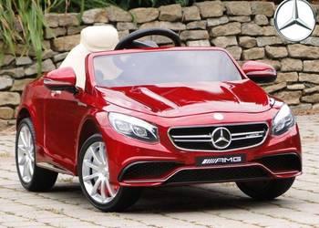 Mercedes AMG S63 Lakierowany Silnik 2X45W 12V Skóra Eva Wawa