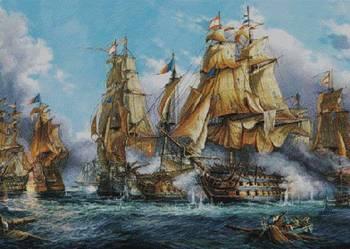 Bitwa morska wzór do wyszycia haftem krzyżykowym