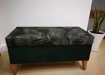 Pufa, ławeczka ,siedzisko, Retro botaniczna