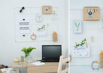 TABLICA z drutu ORGANIZER na ścianę do biura