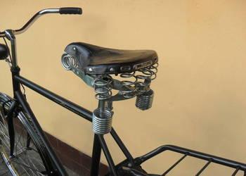 Siodełko rowerowe Lepper ze skóry