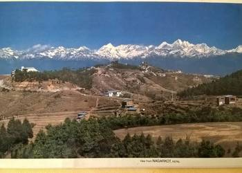 Widok z Nagarkot w Nepalu na Himalaje