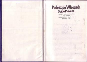 (0905) PODRÓŻ PO WŁOSZECH - GUIDO PIOVENE