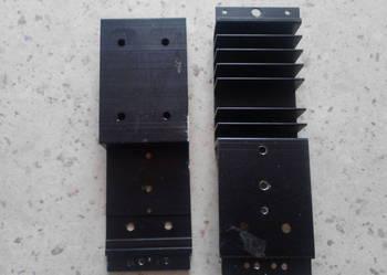 Radiatory aluminiowy żebrowane czarne
