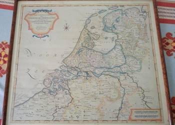 Mapa Stanów Holandii XVI wiek BricoStore w ramie (obraz)