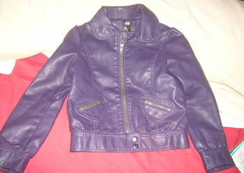 kurtka skórzana kolor śliwkowy