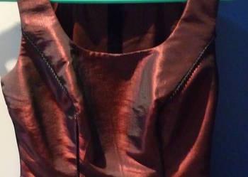 Elegancka bluzka typu gorset bordowo-czarna