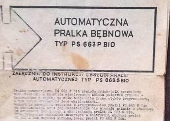 Załącz. do Instrukcji Obsł.Pralka Bębnowa TYP-PS-663 P-BIO