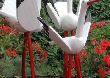 Ptak z drewna rękodzieło bocian Dudek papuga inne
