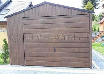 Garaż dwuspadowy z bramą uchylną do góry garaże blaszane