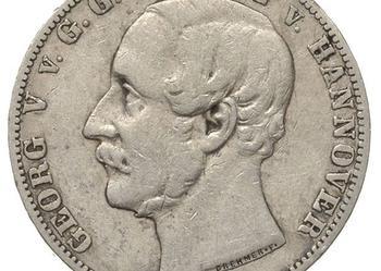 1 Talar Hannover 1859 B JERZY V srebro ORYGINAŁ !