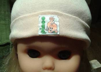Czapeczka pomarańczowa dla niemowlaka 50