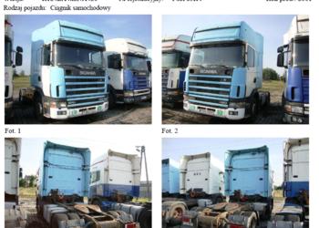KONKURS OFERT ciągnik siodłowy SCANIA 6700 zł NETTO