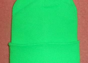 Czapka w kolorze zielonym
