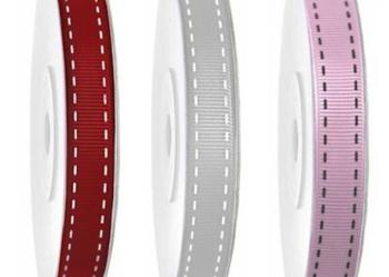 Wstążka tasiemka rypsowa, z nadrukiem, 15mm, ryps 1 metr