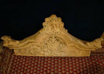 Zwieńczenie, korona pieca kaflowego XIX- XXw