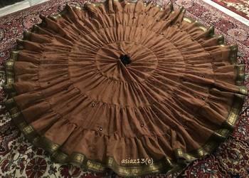 Spódnica do tańca, yardówka ATS (c), cygańska. rudo-czarna