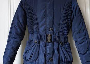 Granatowa kurtka płaszcz Le Phenix 152 cm xxs 32 xs 34 przes