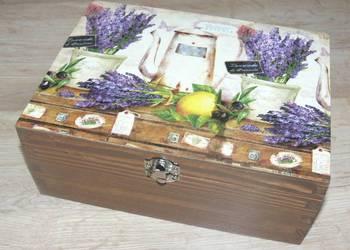 Pojemnik pudełko na herbatę rękodzieło 100 wzorów
