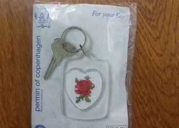 Nowy brelok do haftowania serce róża
