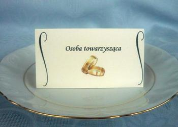 Winietki karteczki bileciki na stół wesele